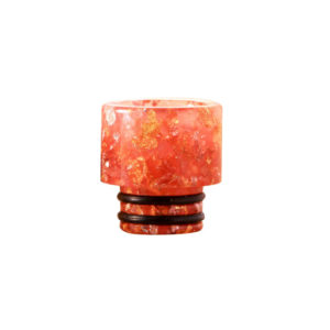 510 resin drip tip with flower pattern