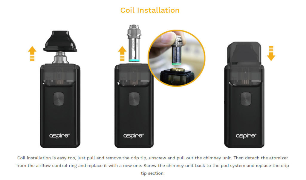 Aspire Breeze 2 Kit coil installation