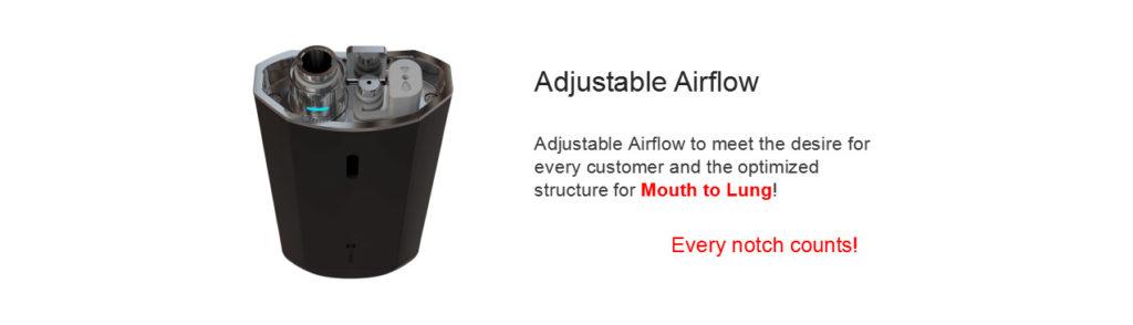 Vaporesso Nexus pod adjustable airflow