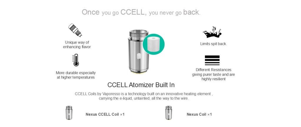 Vaporesso Nexus pod ccell coils
