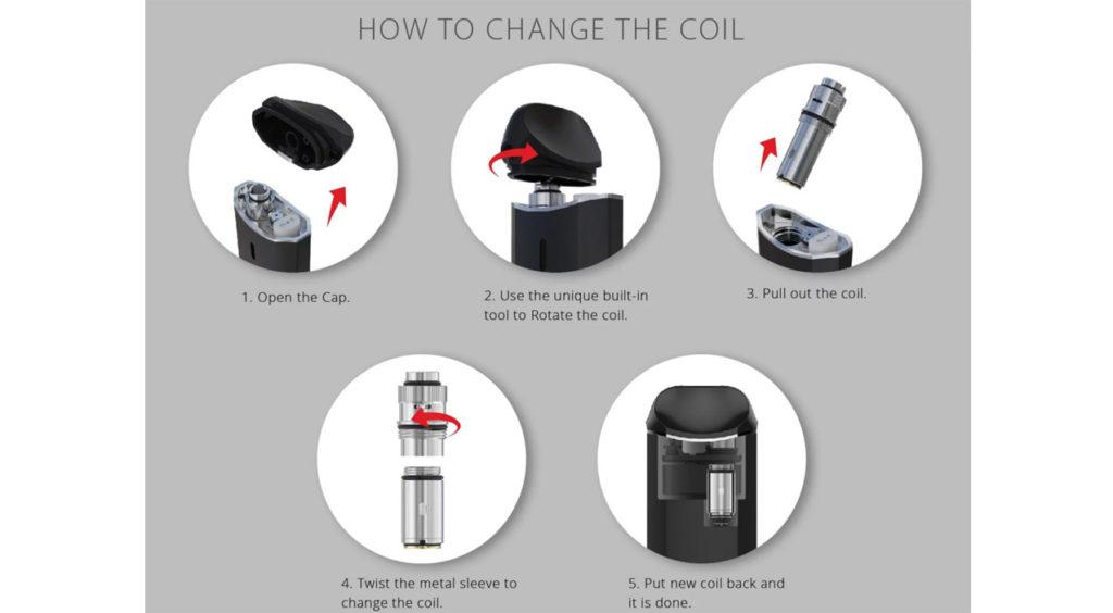 Vaporesso Nexus pod change coils