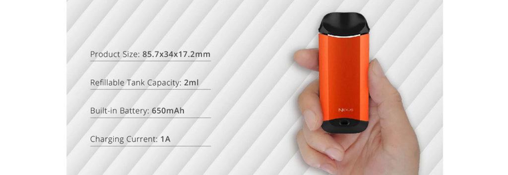 Vaporesso Nexus pod specifications