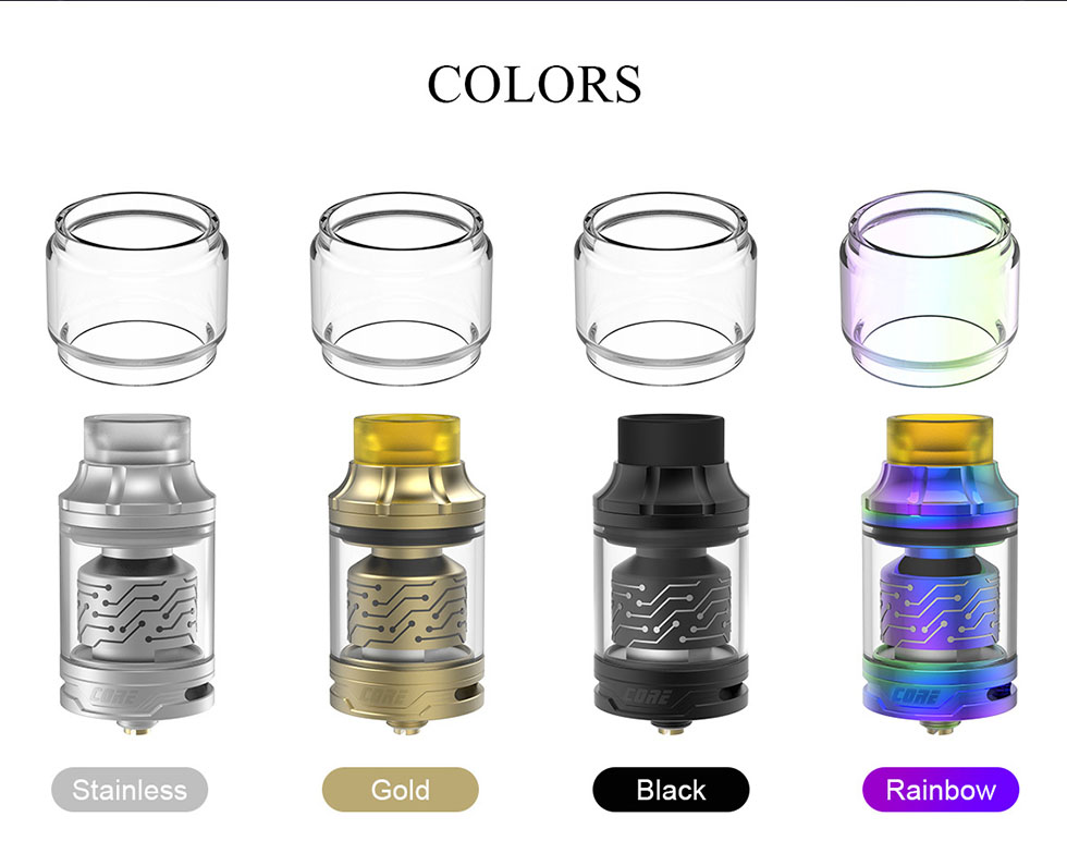 Core RTA colors