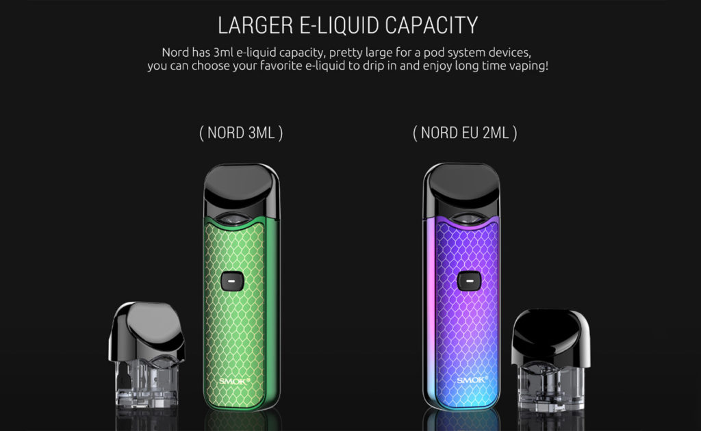 SMOK Nord Pod Kit large juice capacity