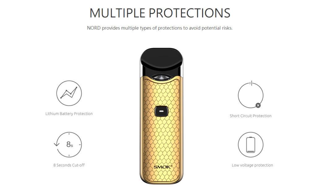 SMOK Nord Pod Kit multiple protections